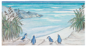Blue penguins at their Charleston home