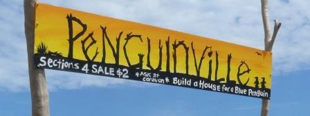 Penguinville entrance sign