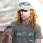 Reuben Lane presents a trapping workshop at the Pancake Rocks Cafe, Punakaiki